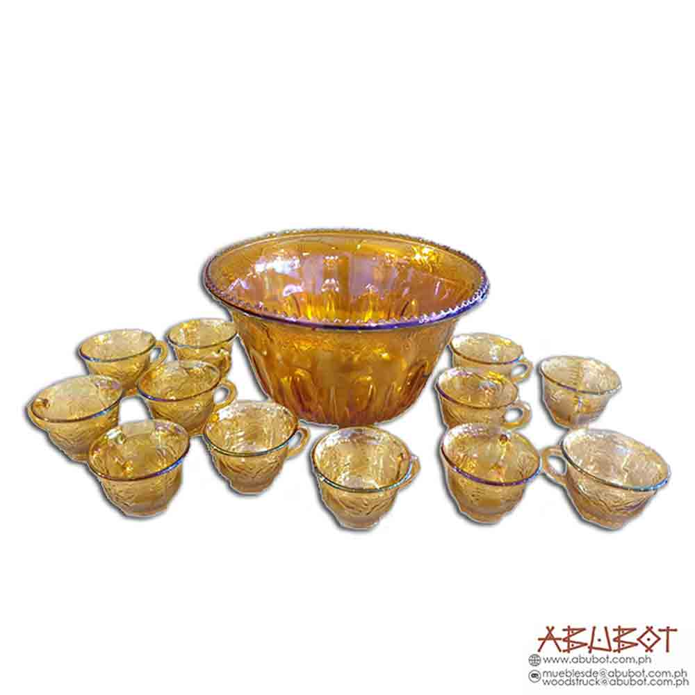 Punch Bowl with 12 glasses