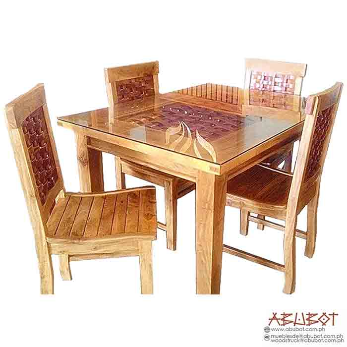 DINING SET 4SEATER BANIG CONCAVE