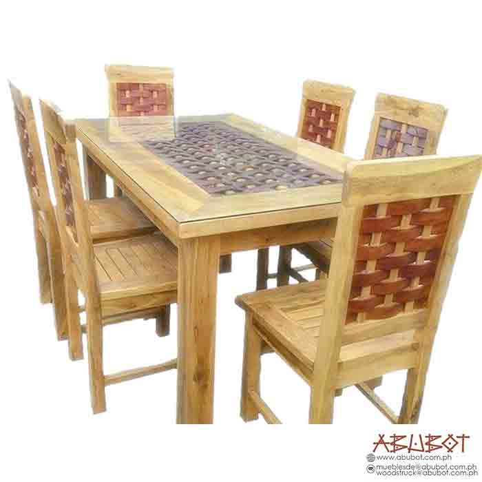 DINING SET 6SEATER BANIG, MOLAVE