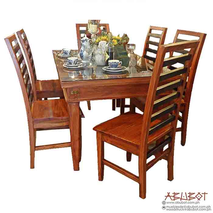 Dining 6 Seater Slatted