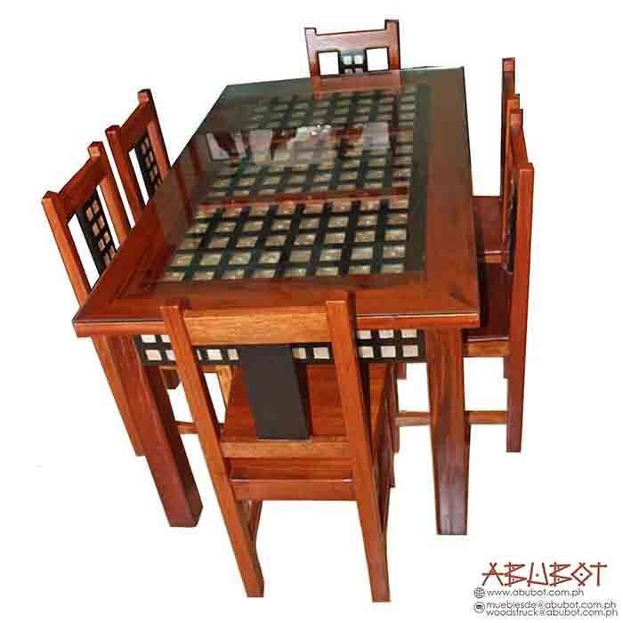 Dining Set, 6 Seater Capiz
