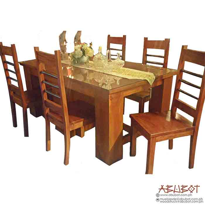 Dining Set, 6 Seater w/ Glass