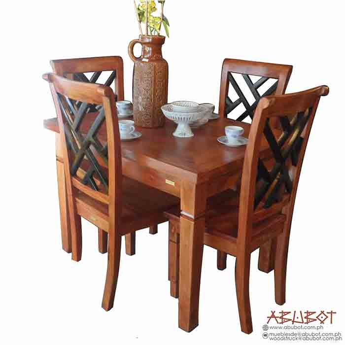 Dining Set 4 Seater Slatted