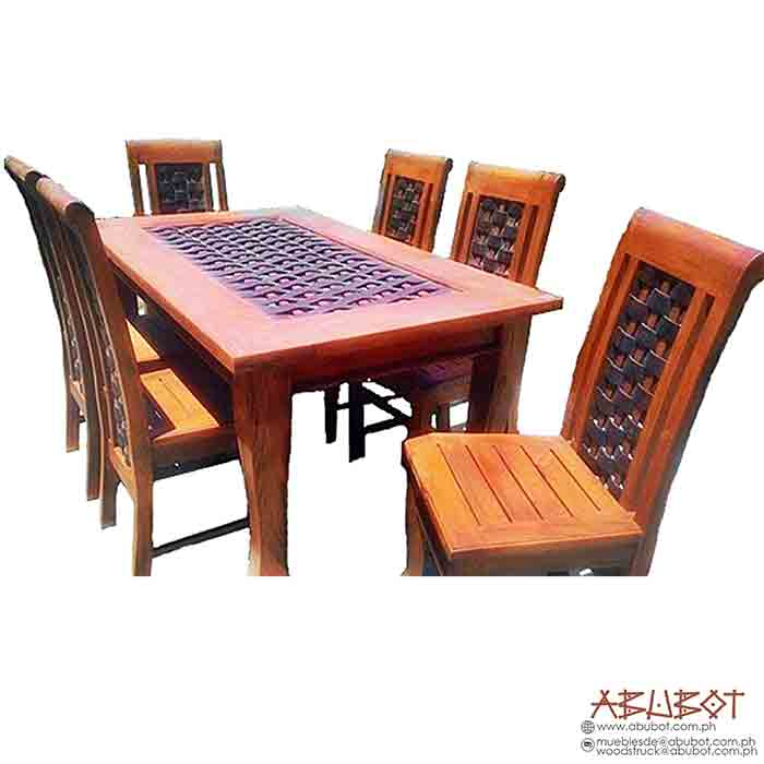 Dining Set 6 Seater Banig High Back
