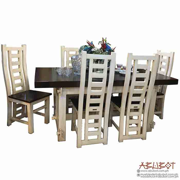 Dining Set Solid Top (Distressed Finish)