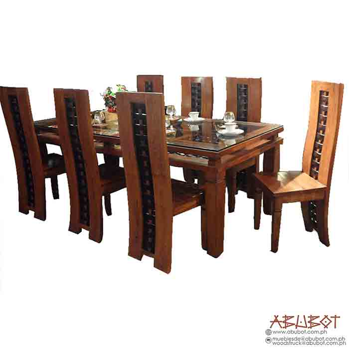 Dining Set 8 Seater Banig Double Frame