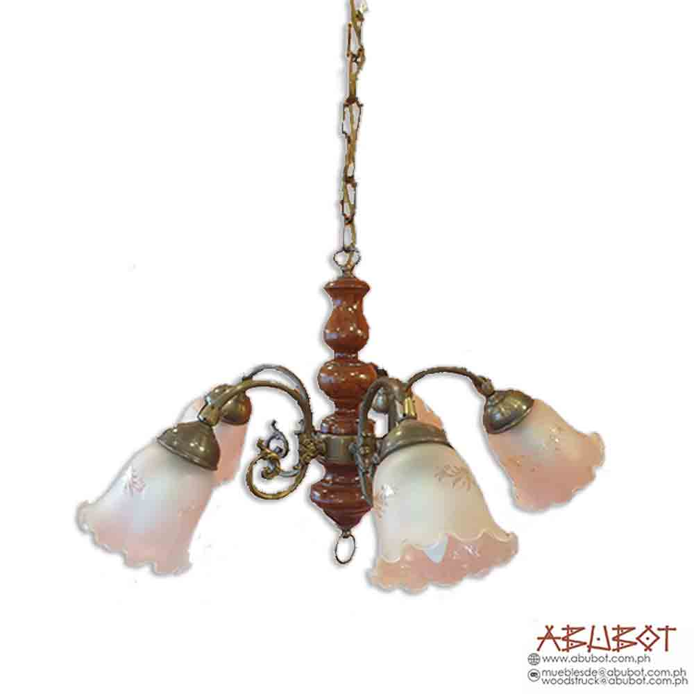 T-347 5-Lights Chandelier Ceramic 24