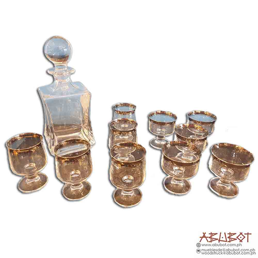 T-418 Crystal Wine Decanter with 12 glass