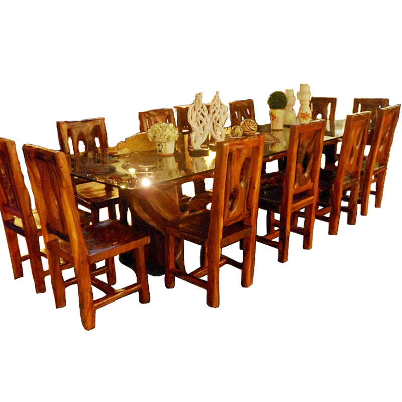 Dining Glass Top, 12 Seaters
