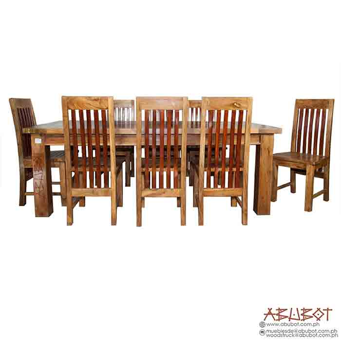 Dining Set 8 seater Slatted