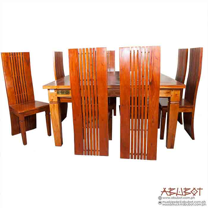 Dining Set 8 Seater Square Slatted