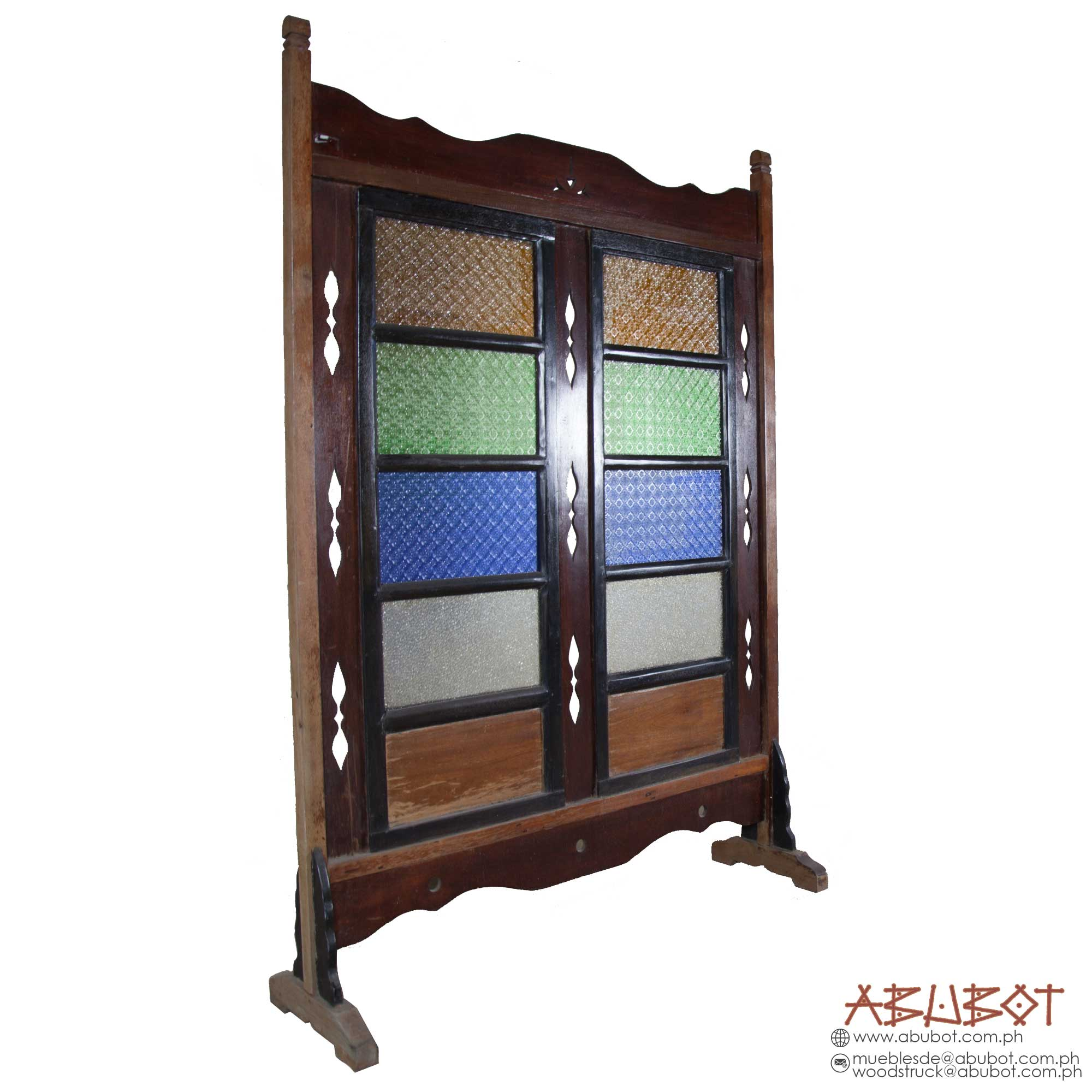 DIVIDER DOUBLE PANEL, STAIN GLASS