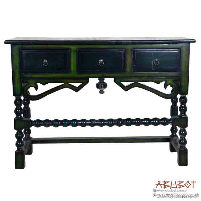 Marinas Table Console 3 Drawer (Distressed Finish)