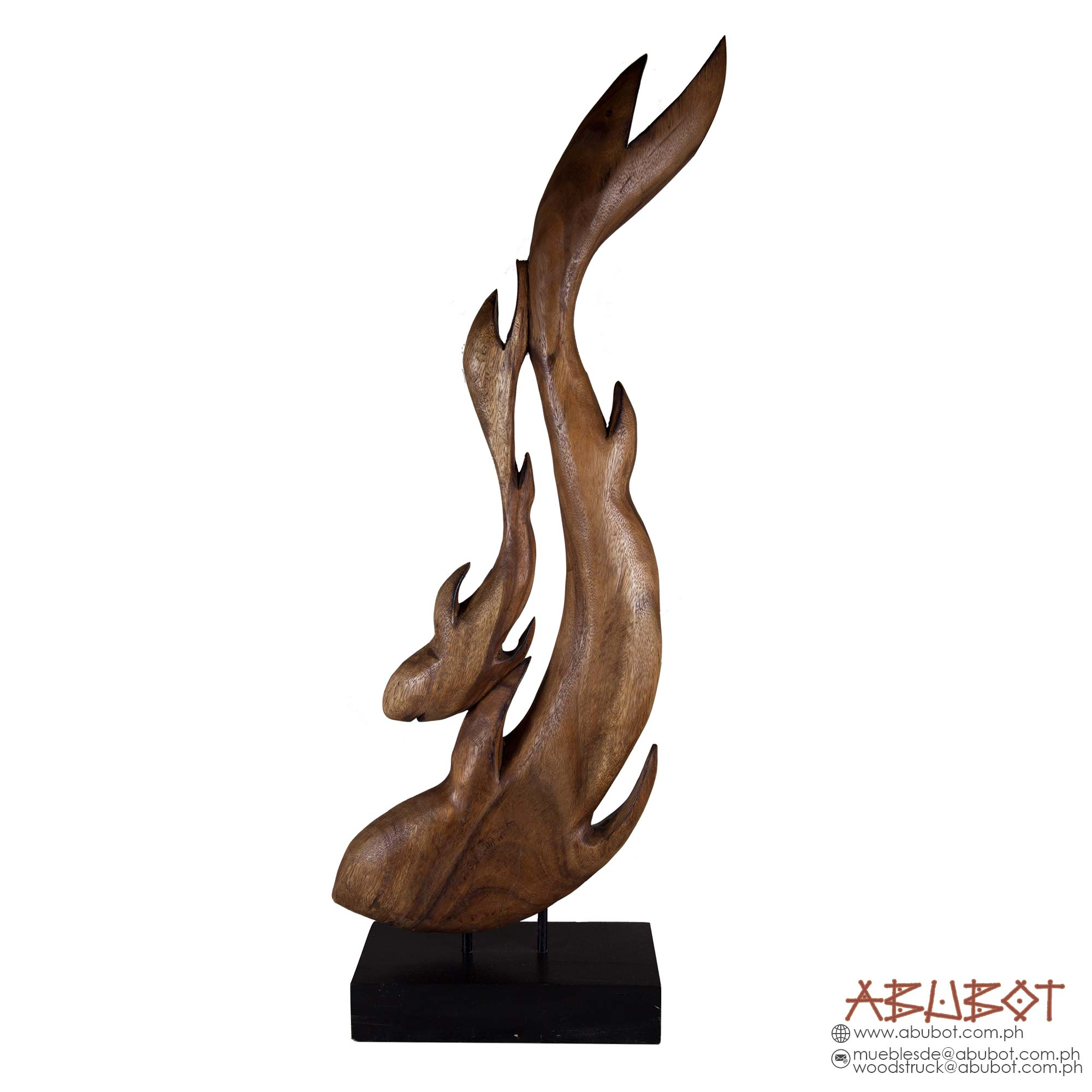 PAT 351 : Wooden Sculpture on Base
