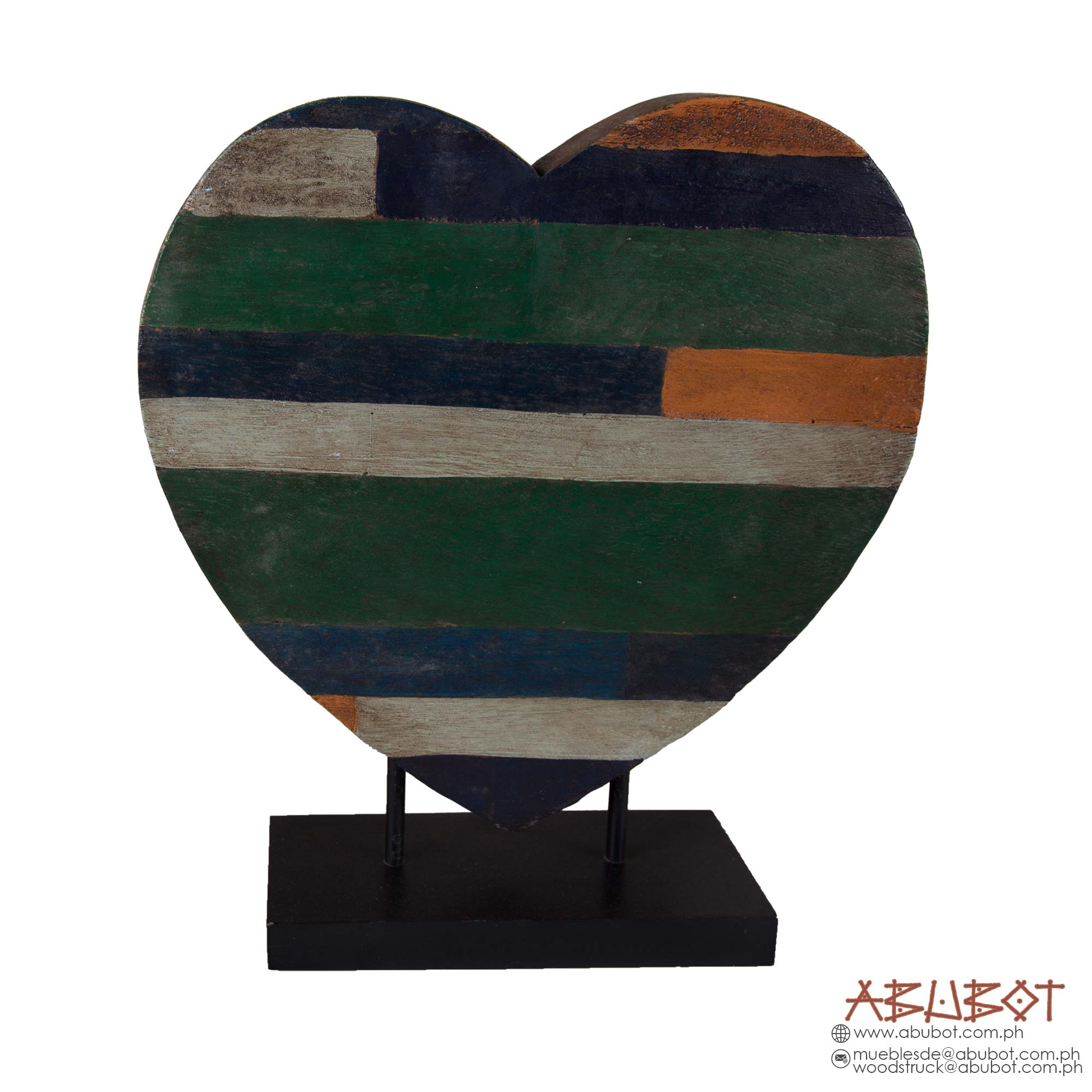 PAT 440 : WOODEN HEART ON BASE