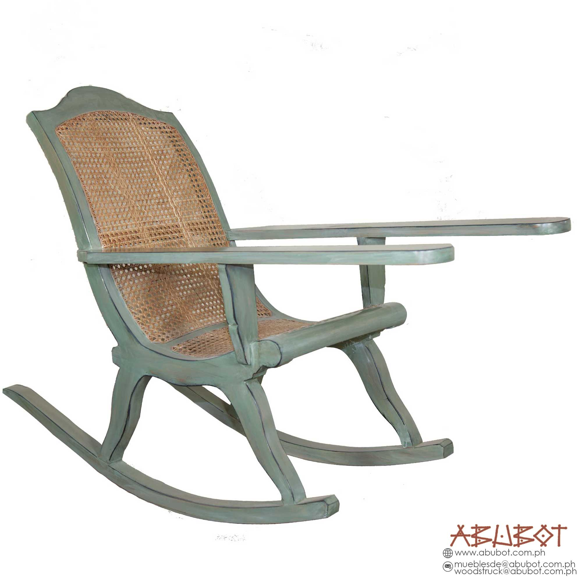 Rocking Chair Soliya Back (Turquoise Finish)