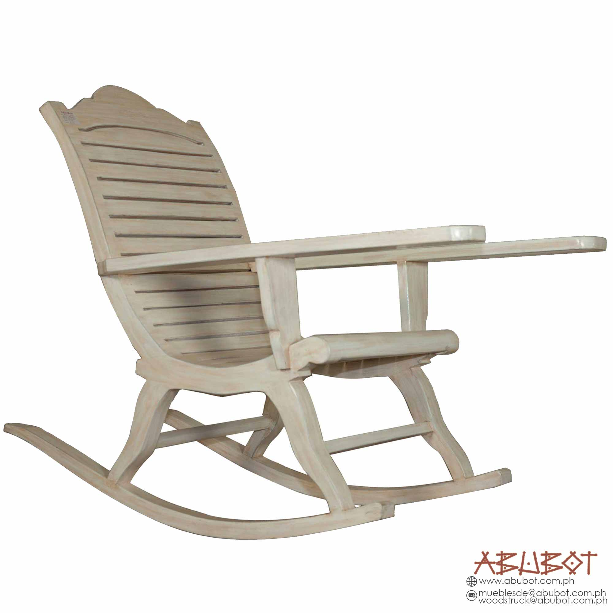 Rocking Chair (White Wash - Distressed Finish)